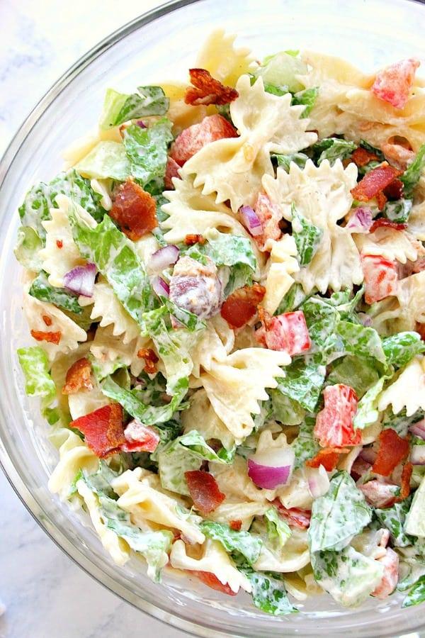 Blt Pasta Salad Crunchy Creamy Sweet