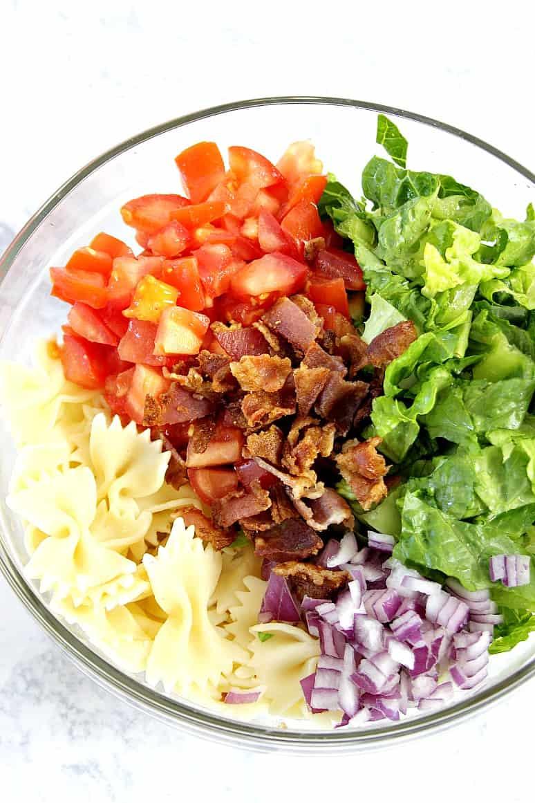 BLT salad 1 BLT Pasta Salad Recipe
