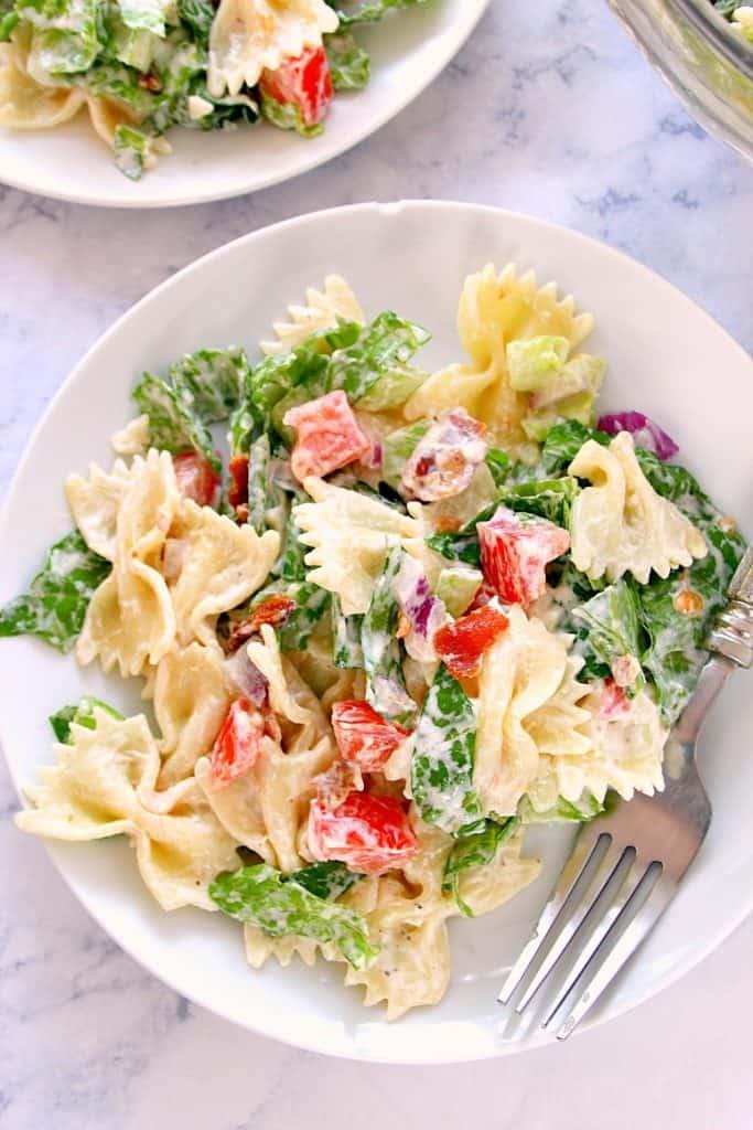 BLT salad 3 683x1024 BLT Pasta Salad Recipe