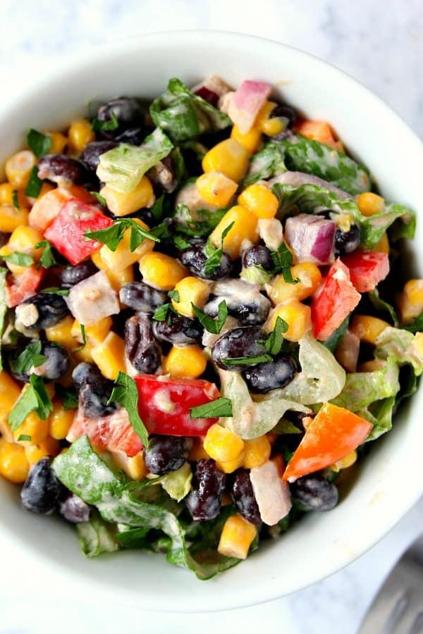 Black Bean Taco Salad A Black Bean Taco Salad Recipe