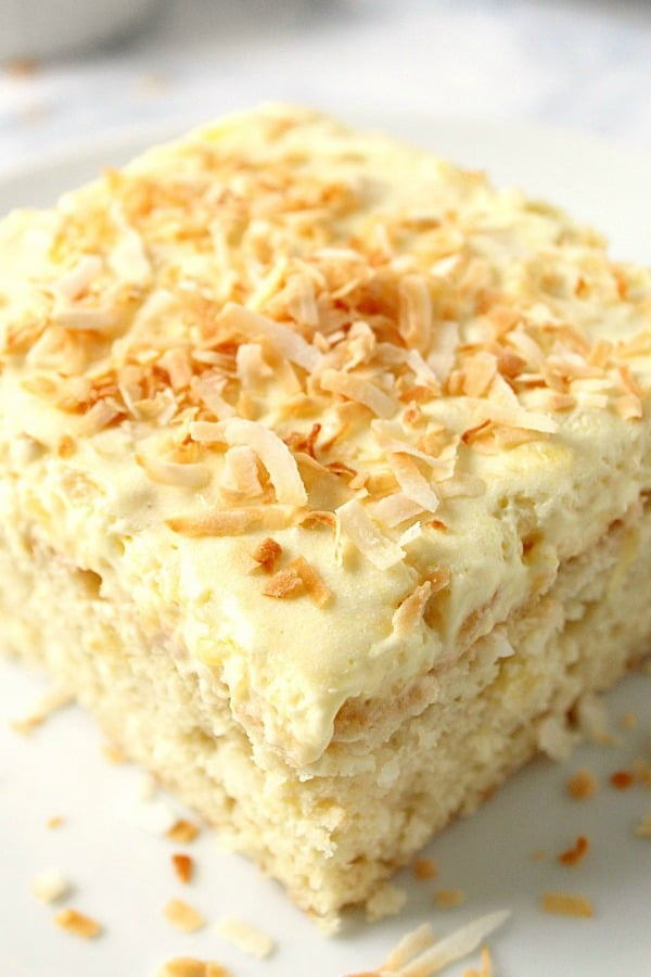 Coconut Pineapple Cake Crunchy Creamy Sweet