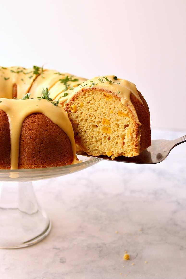 cornbread bundt cake with nacho cheese sauce 3 Cornbread Bundt Cake with Nacho Cheese Sauce Recipe