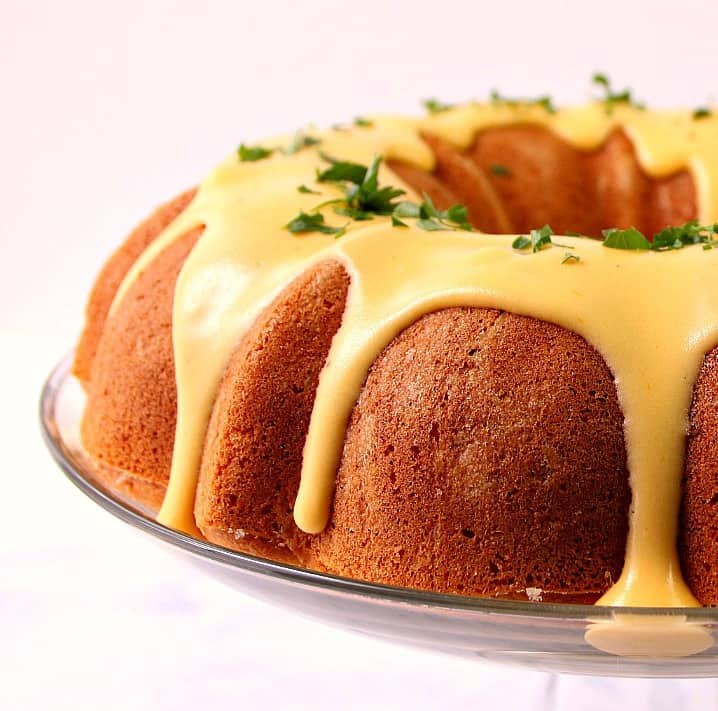 cornbread bundt cake with nacho cheese sauce 6a Cornbread Bundt Cake with Nacho Cheese Sauce Recipe