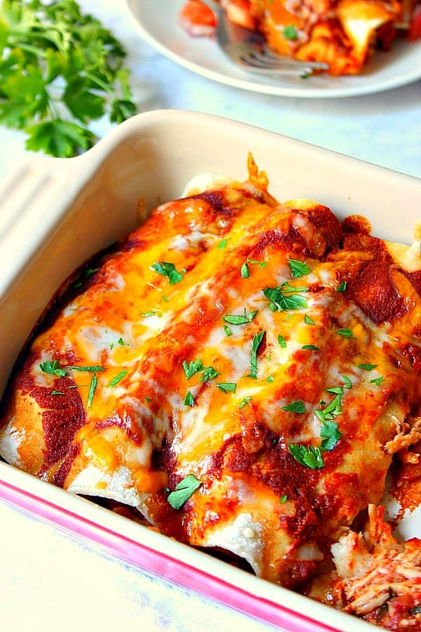 easy chicken enchiladas B Easy Chicken Enchiladas