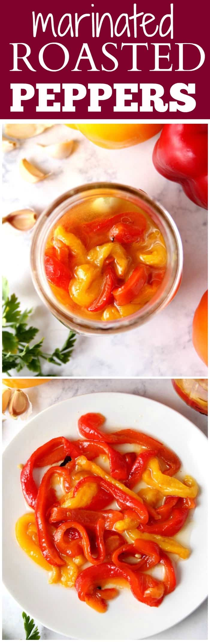 marinated roasted peppers recipe long Easy Marinated Roasted Peppers Recipe