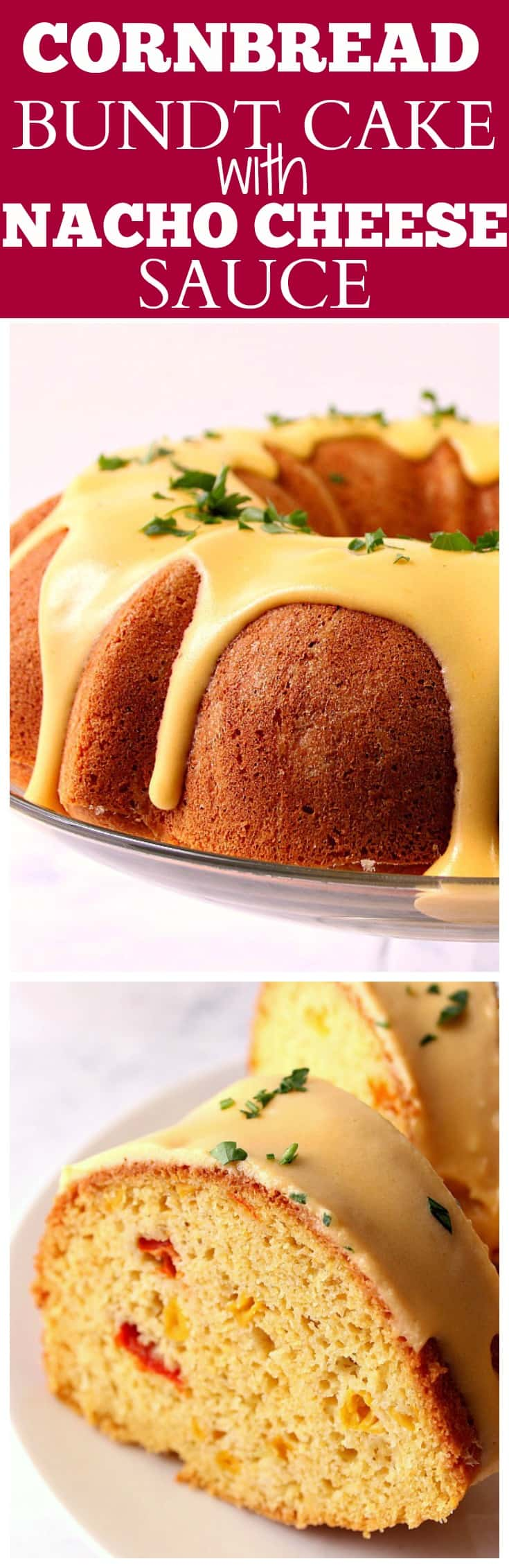 new Cornbread Bundt Cake with Nacho Cheese Sauce Recipe Cornbread Bundt Cake with Nacho Cheese Sauce Recipe