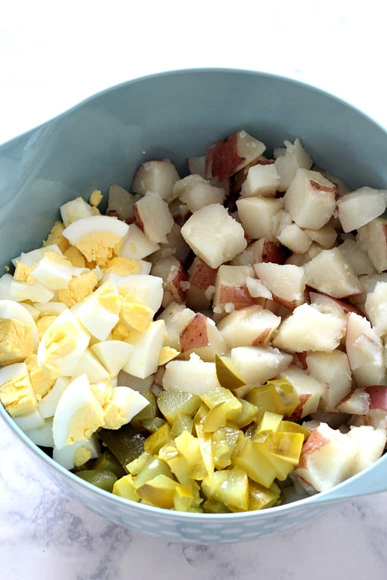 Dilly New Potato Salad With Summer Sausage Recipe — Dishmaps