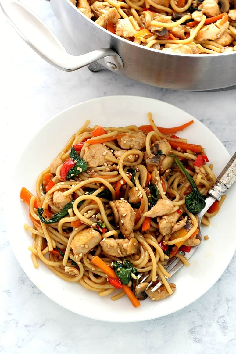 easy chicken lo mein 3 Easy Chicken Lo Mein Recipe