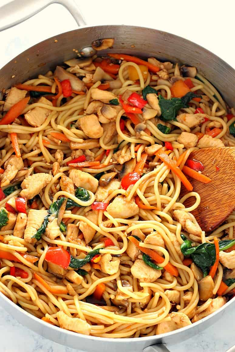 easy chicken lo mein 6 Easy Chicken Lo Mein Recipe