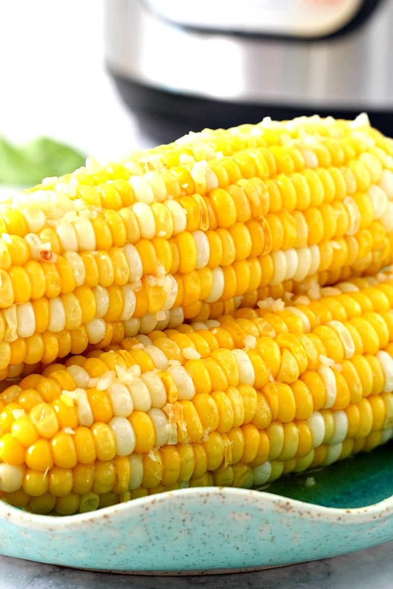 instant pot corn on the cob 1 Instant Pot Garlic Parmesan Corn on the Cob Recipe