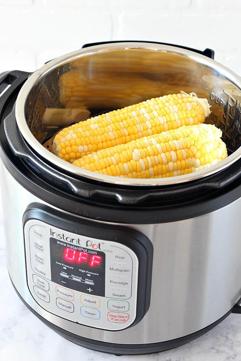 instant pot corn on the cob 3 Instant Pot Garlic Parmesan Corn on the Cob Recipe