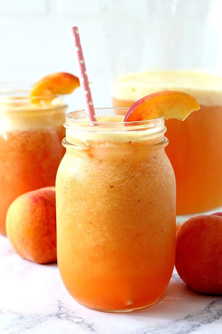 peach agua fresca 1 Peach Ginger Agua Fresca Recipe