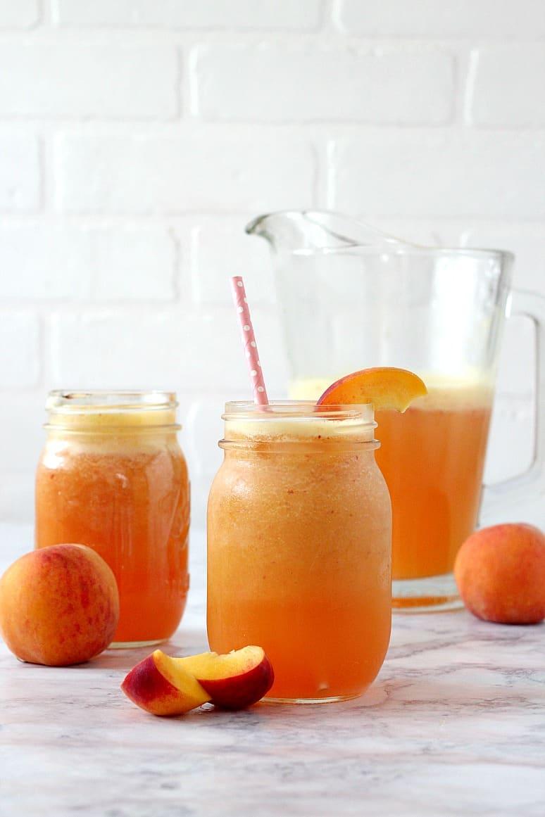 peach agua fresca 3 Peach Ginger Agua Fresca Recipe
