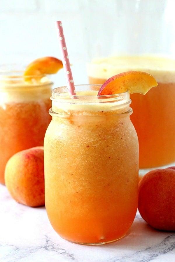 peach agua fresca a Peach Ginger Agua Fresca Recipe