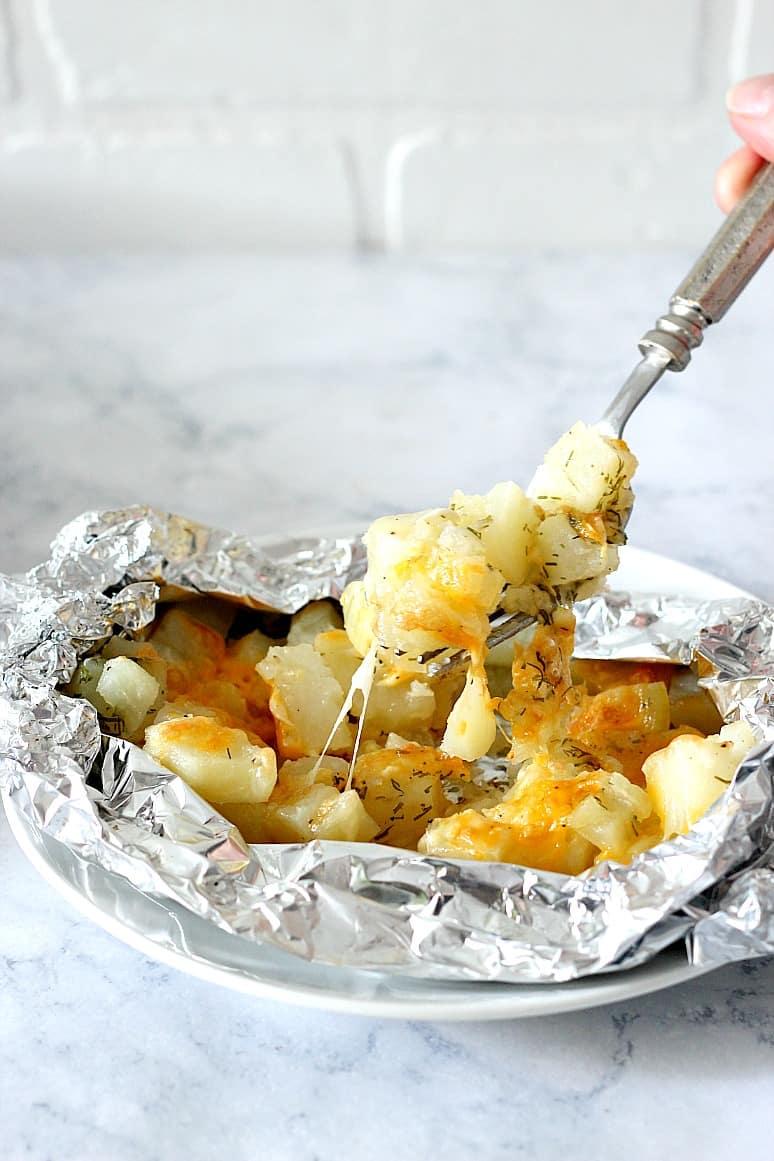 cheesy potato foil packs 3 Cheesy Potatoes Foil Packs Recipe
