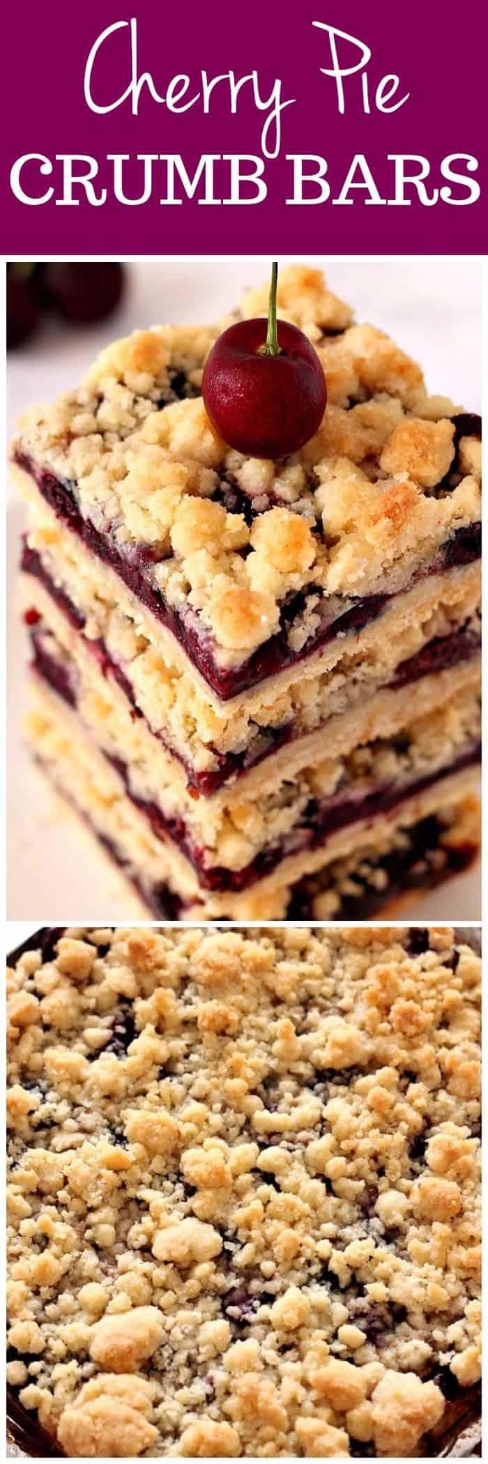 cherry pie bars recipe long1 Cherry Pie Crumb Bars Recipe