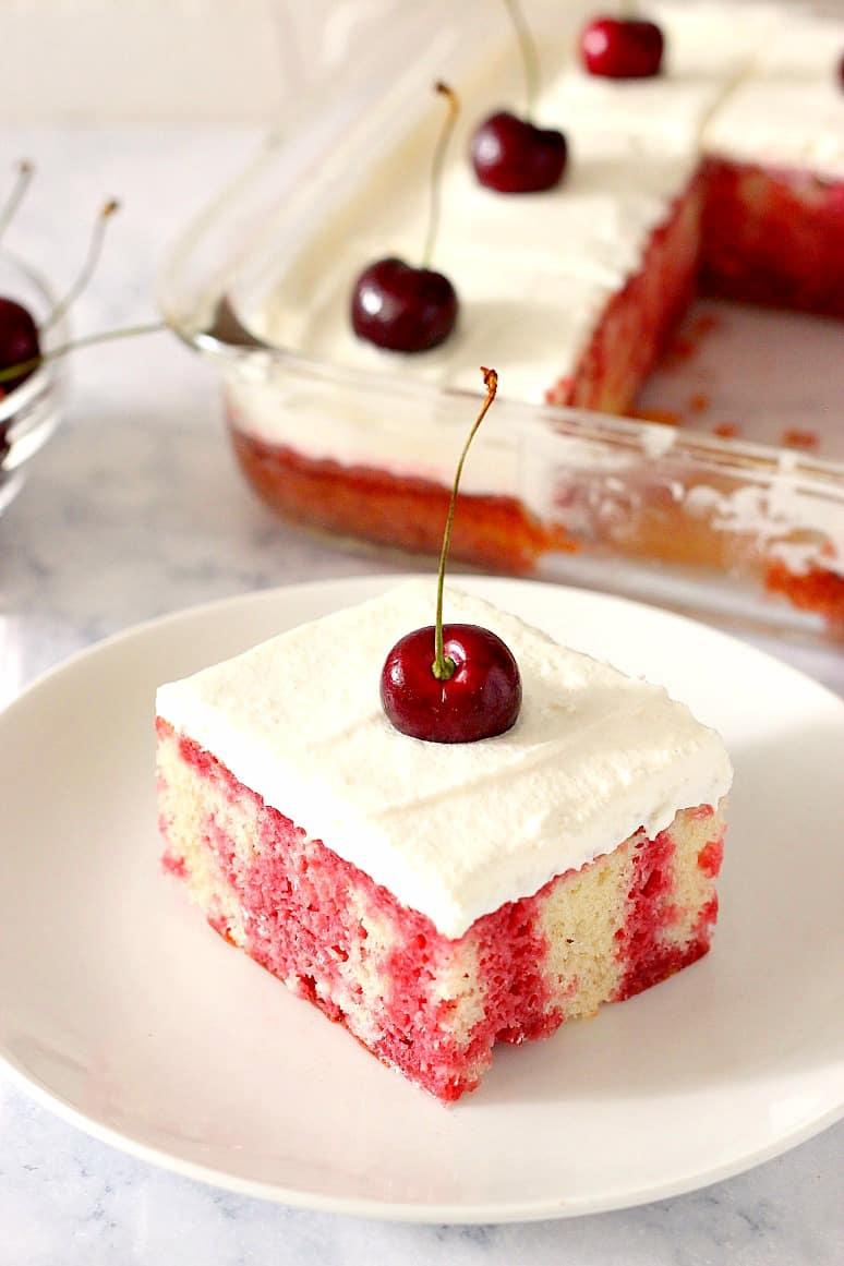 cherry poke cake A2  Cherry Poke Cake Recipe