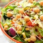 chickpea salad 3 150x150 Chickpea Salad with Garlic Parmesan Vinaigrette Recipe