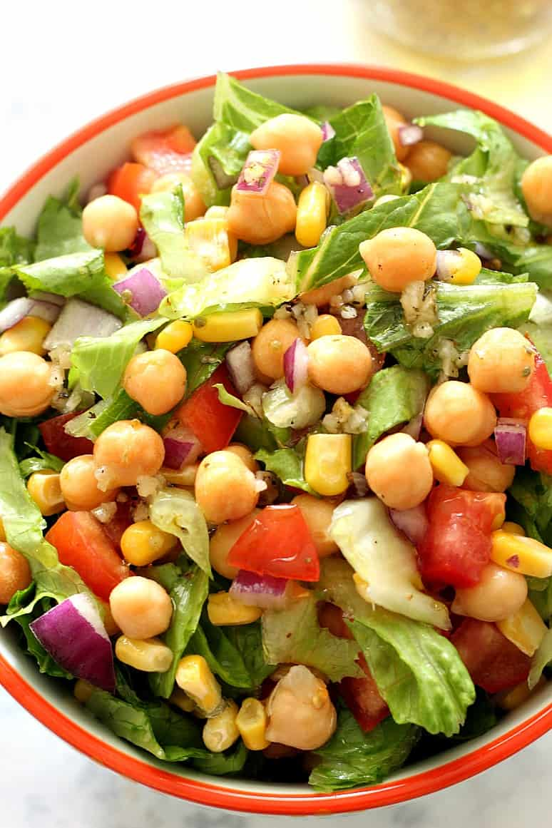 chickpea salad 4 Chickpea Salad with Garlic Parmesan Vinaigrette Recipe