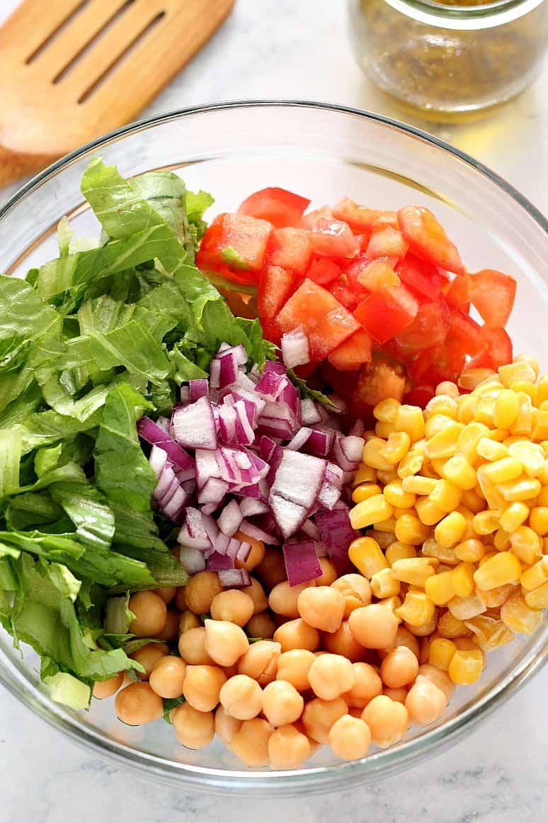 chickpea salad 5 Chickpea Salad with Garlic Parmesan Vinaigrette Recipe