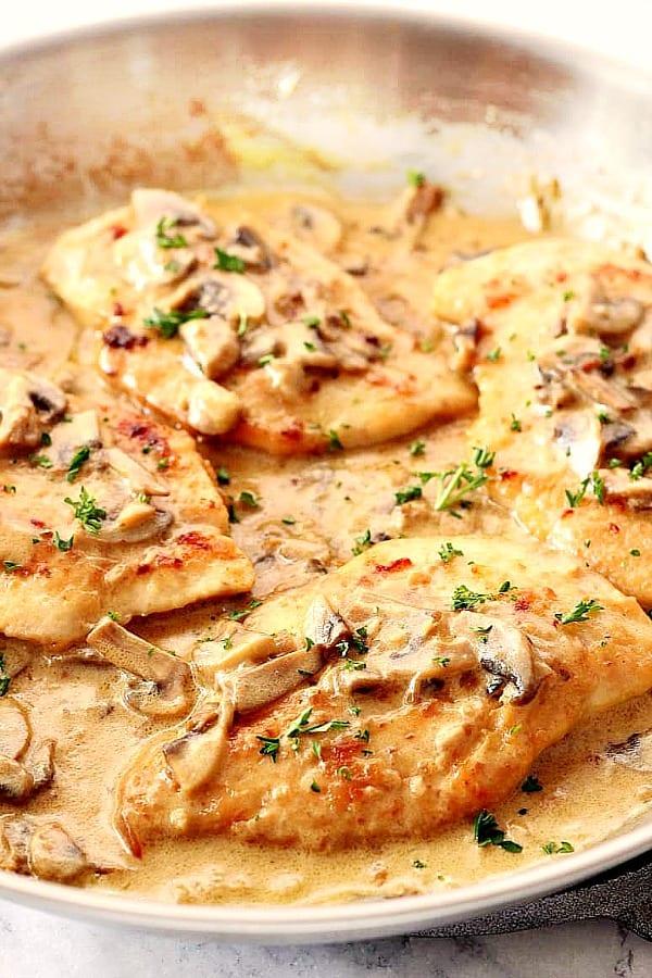 creamy mushroom garlic chicken A Creamy Mushroom Garlic Chicken
