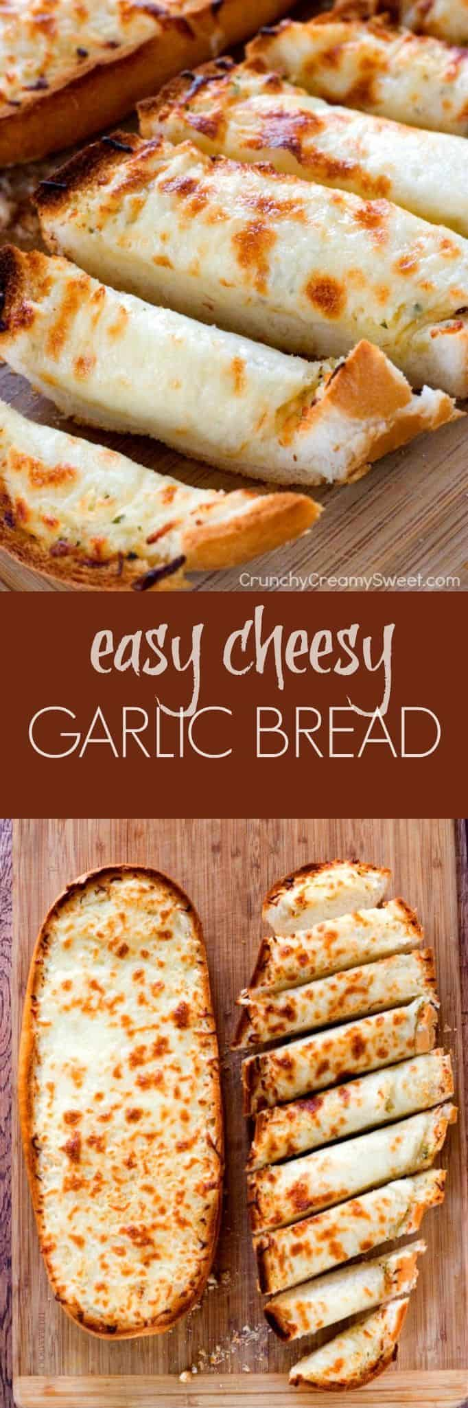 easy cheesy garlic bread long Easy Cheesy Garlic Bread