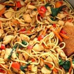 easy chicken lo mein a 150x150 Easy Chicken Lo Mein Recipe