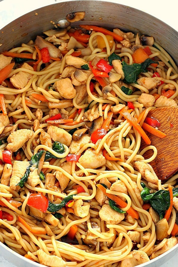 easy chicken lo mein a Easy Chicken Lo Mein Recipe
