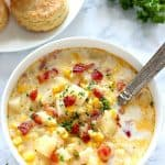 instant pot corn chowder 1 150x150 Instant Pot Corn Chowder with Bacon Recipe