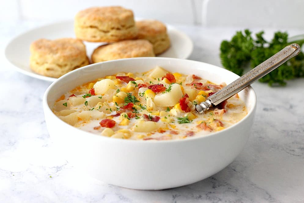 instant pot corn chowder 3 Instant Pot Corn Chowder with Bacon Recipe