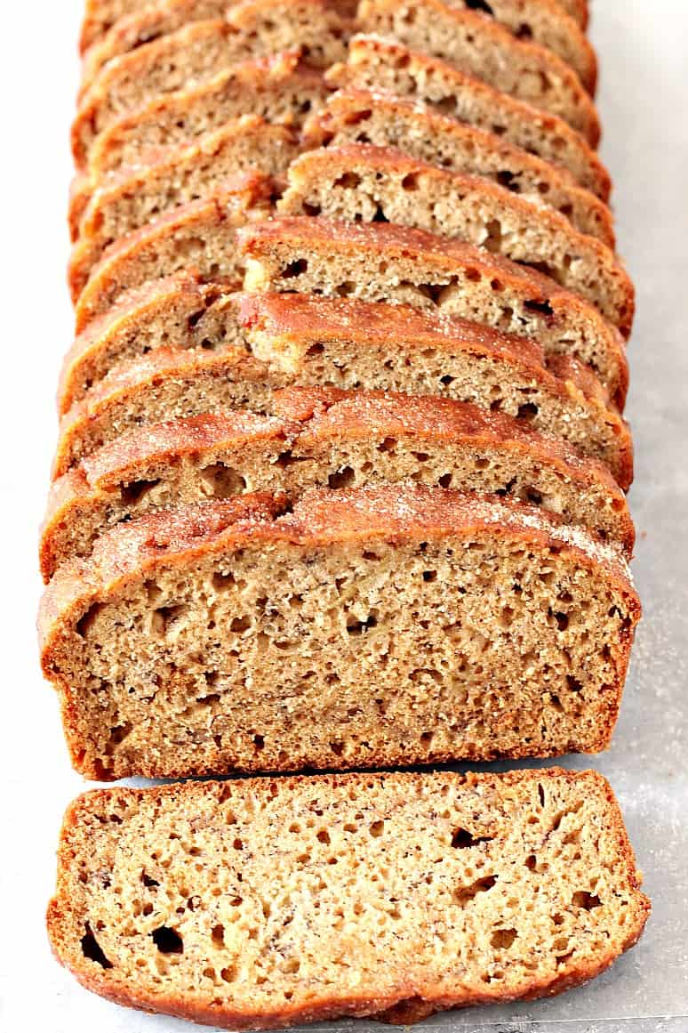 cinnamon sugar banana bread recipe 3 Cinnamon Sugar Banana Bread Recipe