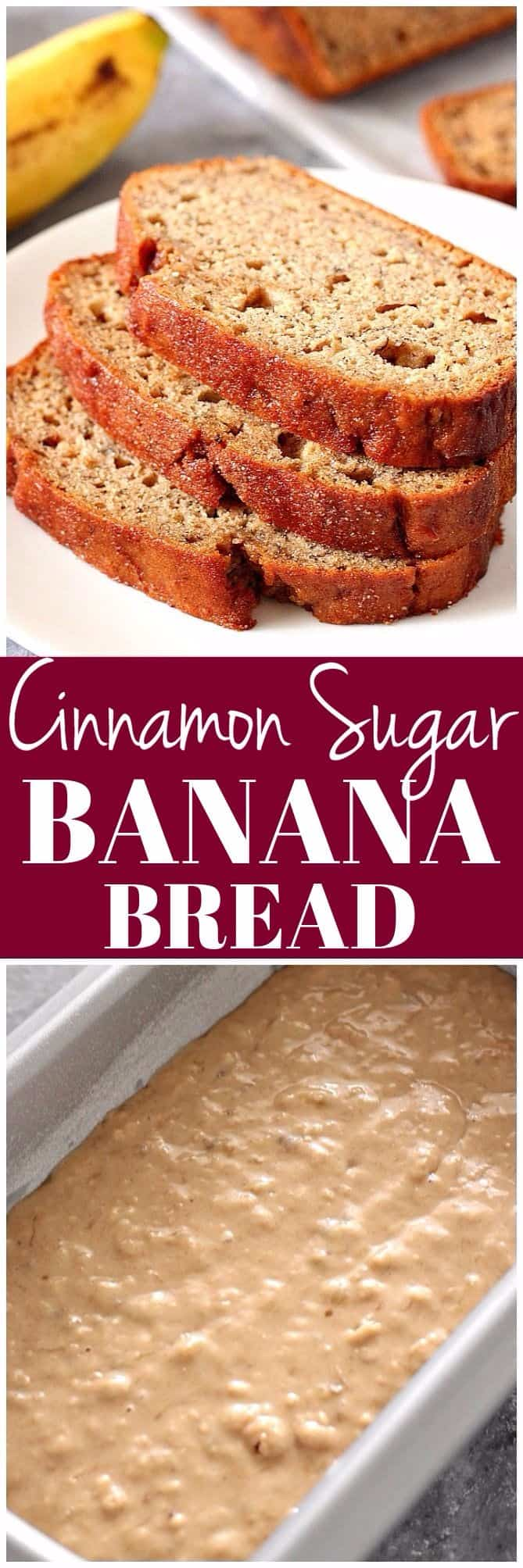 cinnamon sugar banana bread recipe long2a Cinnamon Sugar Banana Bread Recipe
