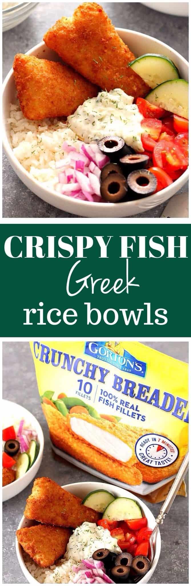 crispy fish Greek rice bowls recipe long1 Crispy Fish Greek Rice Bowls Recipe