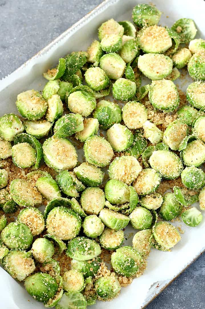 garlic parmesan roasted Brussels sprouts 2 Roasted Brussels Sprouts