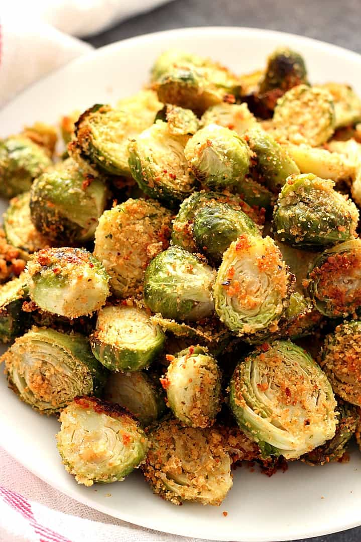 garlic parmesan roasted Brussels sprouts 4 The Best and Easy Holiday Dinner Recipes