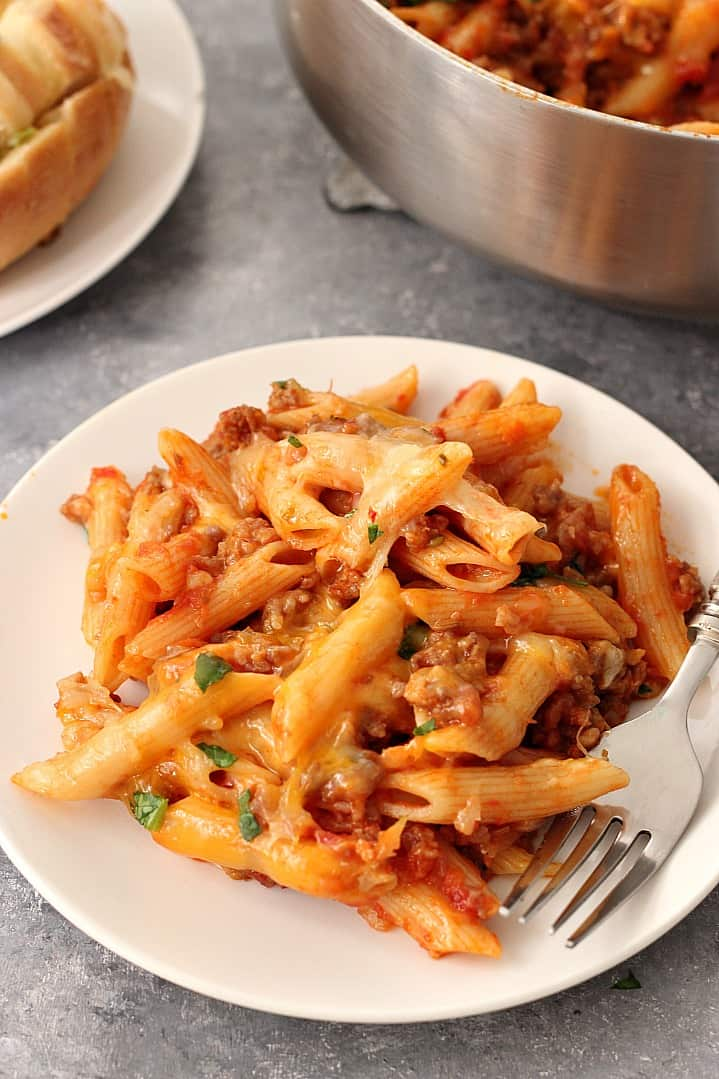 one pot cheesy sausage penne recipe 5 One Pot Cheesy Sausage Penne Recipe