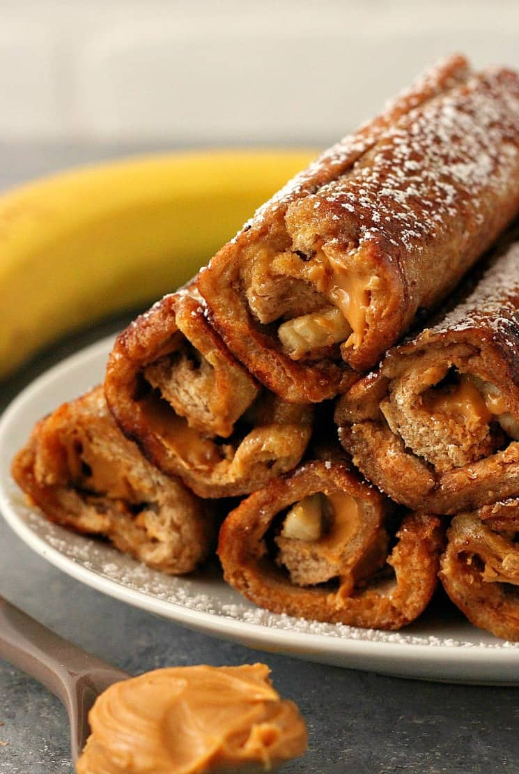 peanut butter banana roll ups 1b Peanut Butter Banana French Toast Roll Ups Recipe