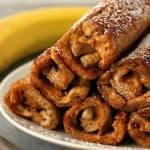 peanut butter banana roll ups a 150x150 Peanut Butter Banana French Toast Roll Ups Recipe