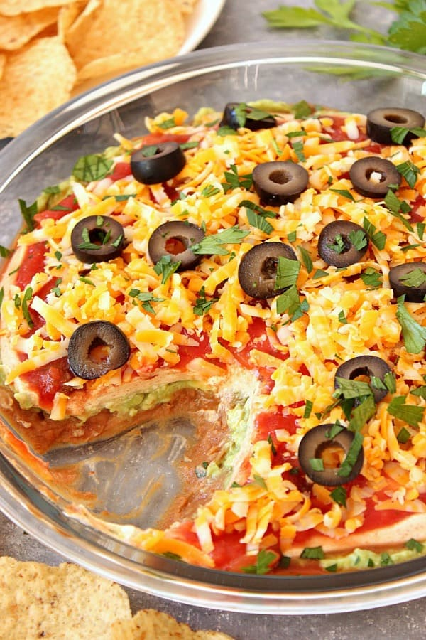 Mexican 5 Layer Dip Crunchy Creamy Sweet