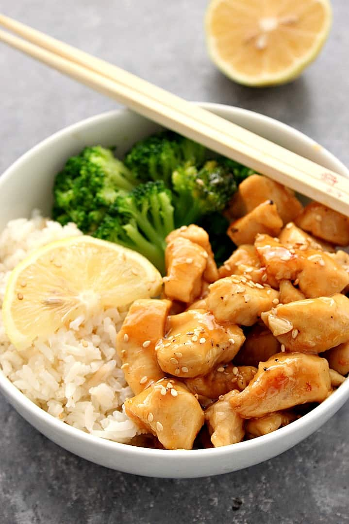 honey lemon chicken rice bowls recipe 1 Honey Lemon Chicken Rice Bowls Recipe