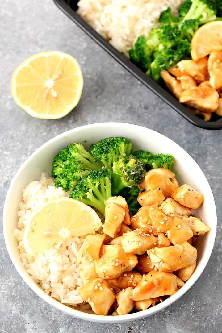 honey lemon chicken rice bowls recipe 2 Quick and Easy Asian Takeout Recipes