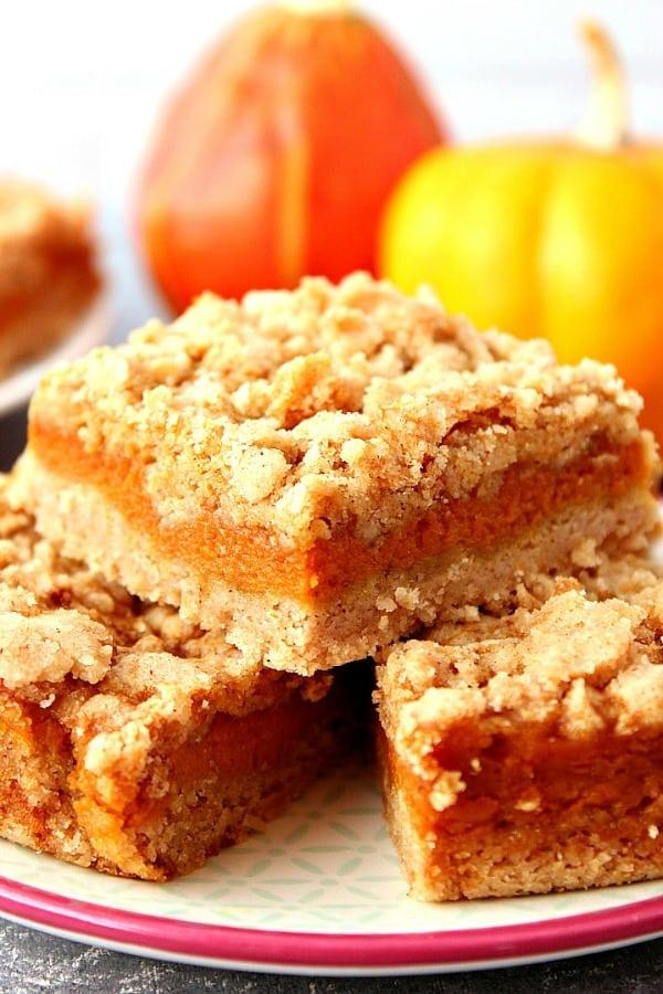 Pumpkin Pie Bars Recipe Crunchy Creamy Sweet