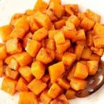 Roasted Butternut Squash on a plate.
