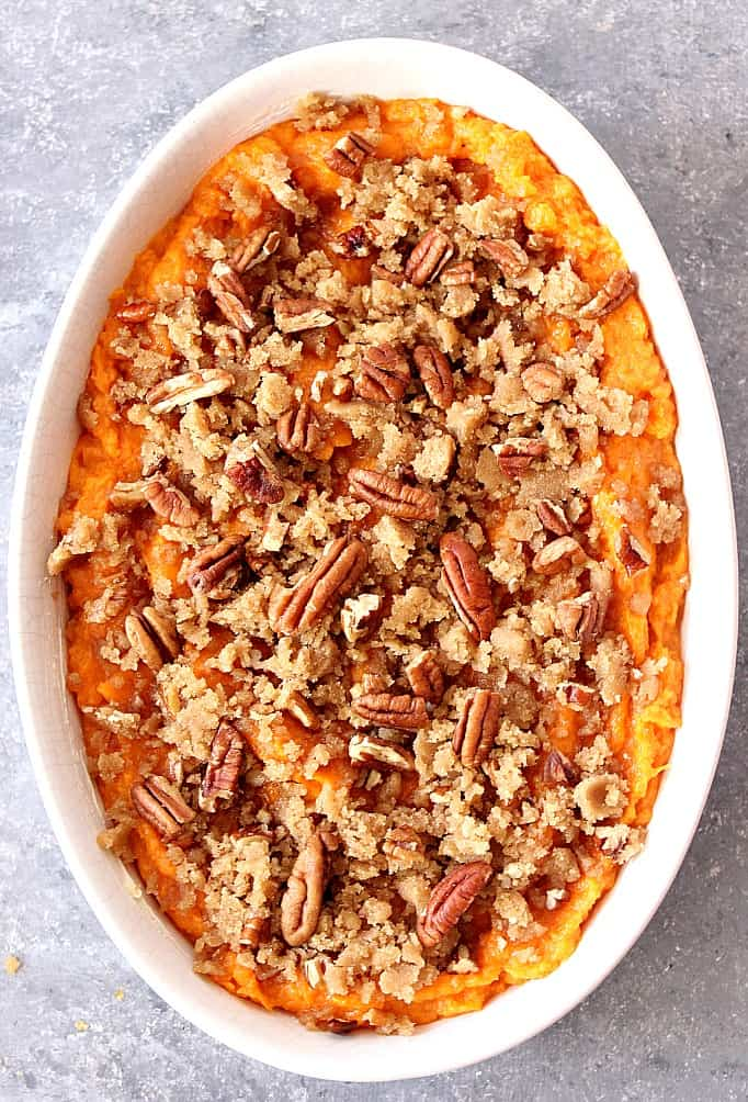the best sweet potato casserole with praline topping recipe 1 Easy Sweet Potato Casserole