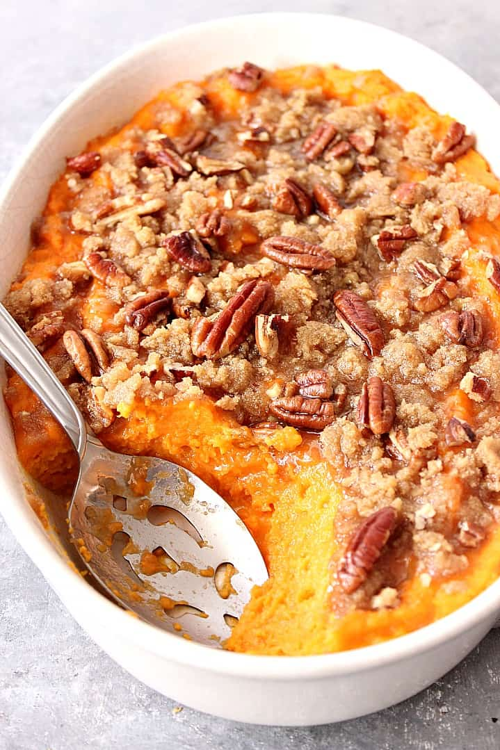 the best sweet potato casserole with praline topping recipe 2 The Best and Easy Holiday Dinner Recipes