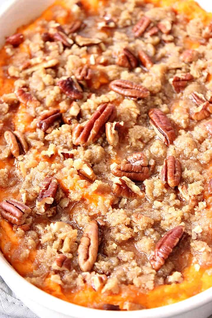the best sweet potato casserole with praline topping recipe 4 Easy Sweet Potato Casserole