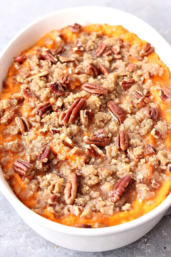 the best sweet potato casserole with praline topping recipe 7 Easy Sweet Potato Casserole
