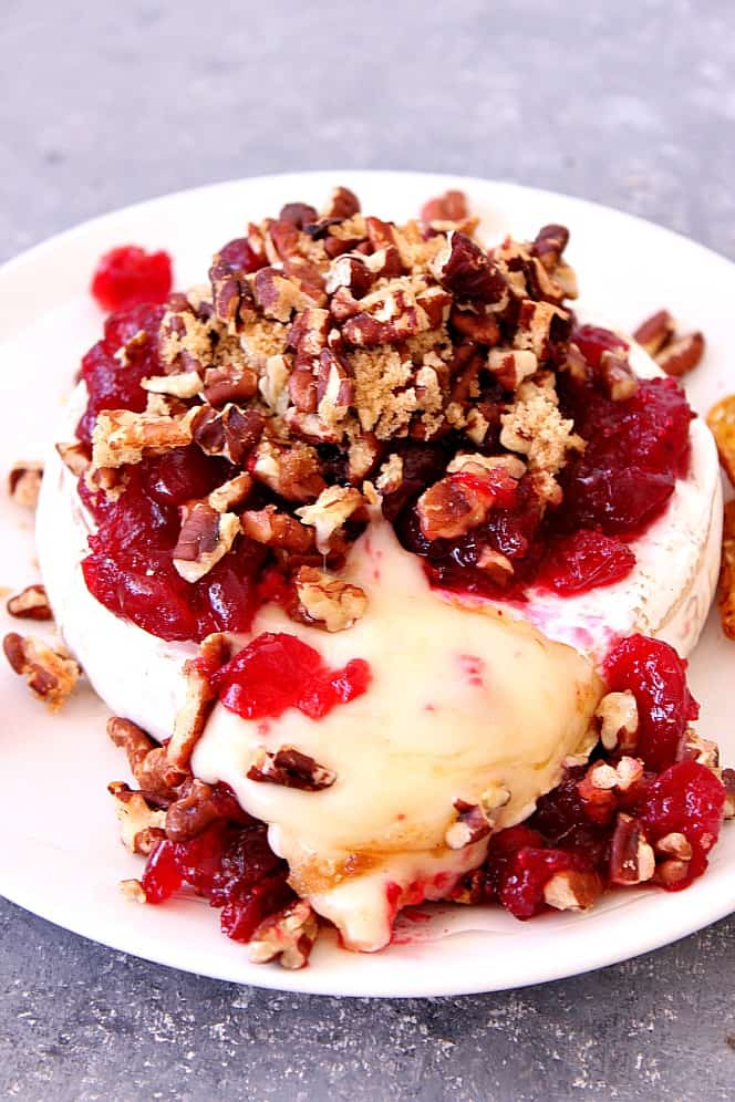 cranberry pecan baked brie recipe 2 Cranberry Pecan Baked Brie Recipe