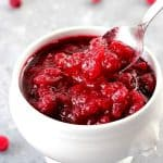cranberry sauce A 150x150 Easy Homemade Cranberry Sauce Recipe