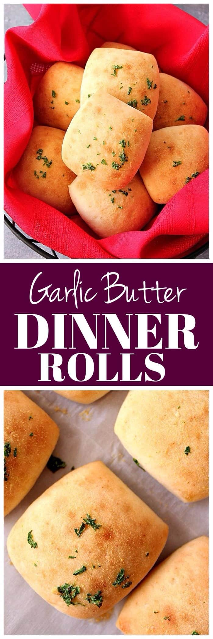 garlic butter dinner rolls recipe long1 Garlic Butter Dinner Rolls Recipe